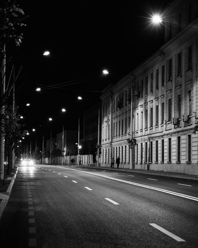 Architecture No People Night Street Building Exterior Illuminated Road Street Light Lighting Equipment City Transportation Built Structure Direction The Way Forward Empty Building Symbol Sign Road Marking Marking Black And White EyeEm Best Shots EyeEmNewHere EyeEm Selects EyeEm Gallery Dark Mood Medieval Ruins Abandoned Abandoned Places Concept Conceptual Nikon D7500