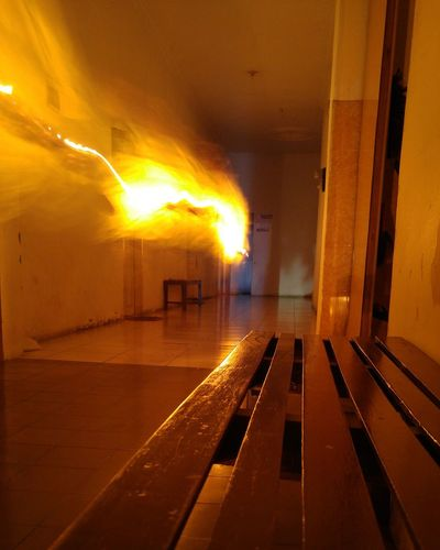 Danger Heat - Temperature Flame Smoke - Physical Structure Indoors  No People Burning Day First Eyeem Photo