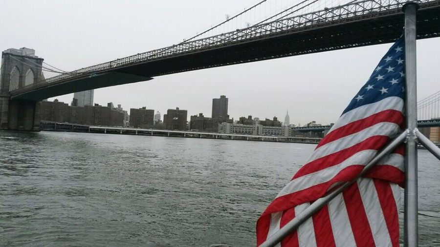 Brocklyn Bridge Broklyn Bridge New York ❤ City Life Travel Destinations Person Modern New York City Travel Built Structure Suspension Bridge Urban Skyline Skyscraper Horizontal Cityscape Bridge - Man Made Structure Day Connection Flag Patriotism Sky No People Water Architecture USA Photos
