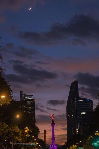 Night Nightlife City Urban Skyline Cityscape Outdoors Architecture Sunset Moon Tree