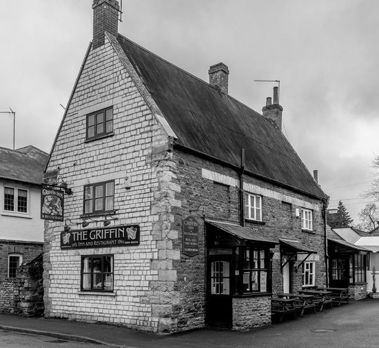 The Griffin Inn, Pitsford, Northamptonshire Northamptonshire Black And White Monochrome Architecture Village Rural Northampton Pubs Pubs