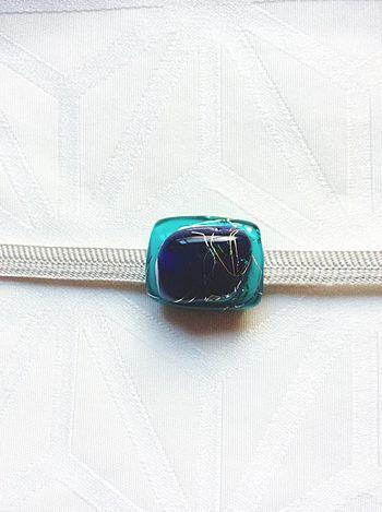 Japan Traditional Craft Gold Leaf Craft Glass Handmade Crafts Handmade Jewellery Obidome Sash Clip Glass Art