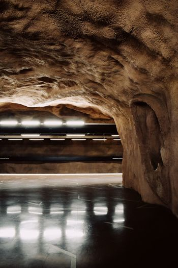 Underground No People Water Reflection Transportation Wet Nature Road Indoors  Mode Of Transportation Textured  Architecture
