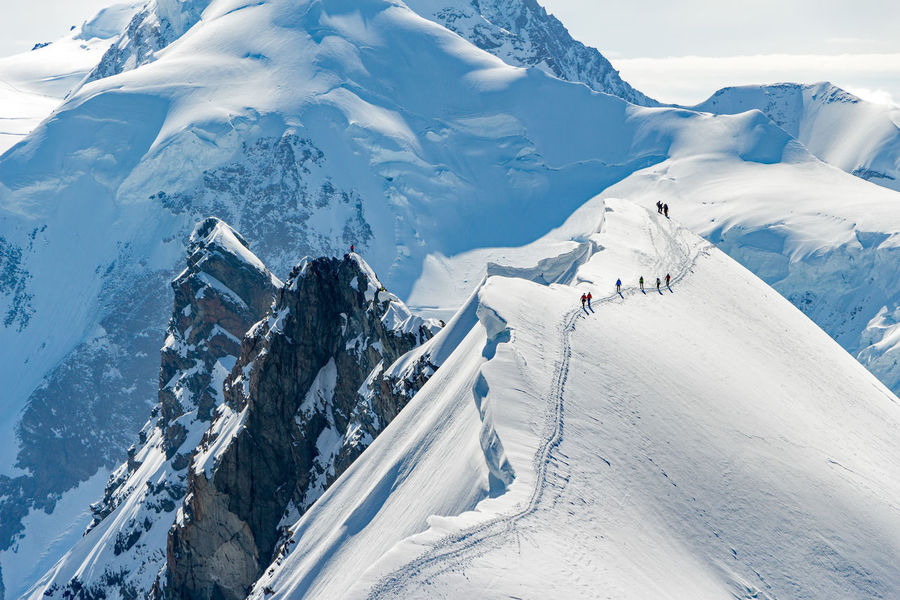 Mountaineering Path Alpinism Alps Beauty In Nature Cold Temperature Day Frozen Glacier Mountain Mountain Range Mountaineers Nature Outdoors Scenics Sky Snow Snowcapped Mountain Switzerland Tranquil Scene Tranquility Weather White Color Winter