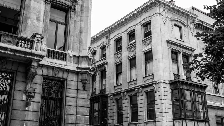 Architecture Building Exterior Built Structure Window Low Angle View Façade History Outdoors Day Antwerpen Classical Style City Sky Architecture Photography Leica D-Lux Building Monochrome Black And White Black & White Architecture_collection Monochrome _ Collection EyeEm Best Shots - Black + White Black And White Photography Architecture Vintage