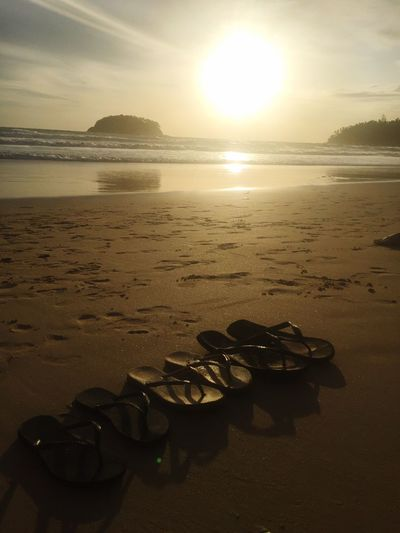 Tong Thailandtravel Thailand Water Sea Beach Sky Land Sunset Scenics - Nature Tranquility Sun Outdoors Sunlight No People Tranquil Scene Nature Horizon Over Water Beauty In Nature Horizon Reflection Sand