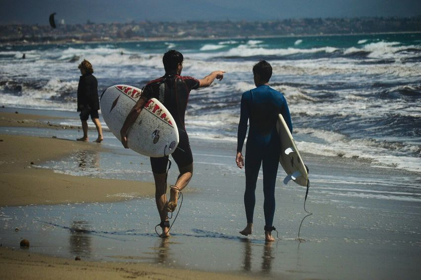 Live For The Story Surf Sportsman Surfing Sea Beach Water Walking Enjoyment Aquatic Sport Fun People Men Sport Wave Friendship Togetherness Photography
