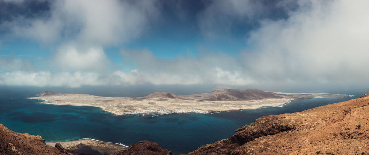 Panoramic View Of La Graciosa Island