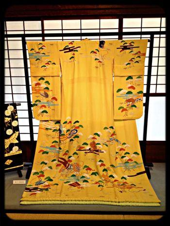 "Kimono The Purist (no Edit, No Filter) Yellow Japanese Style 「都おどり」で舞妓さんが着用した着物。The clothes which apprentice geisha wore by ""miyako odori"""