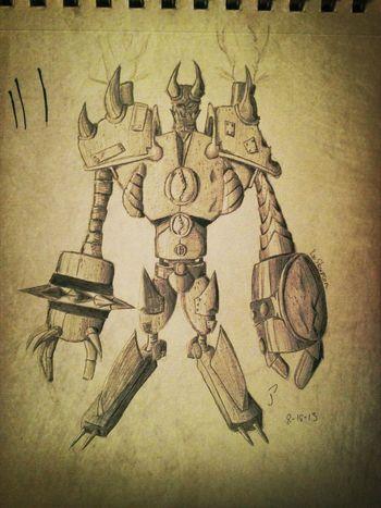 a concept of Blitzcrank from LeagueofLegends , War Blitzcrank! My Drawing Art Champion