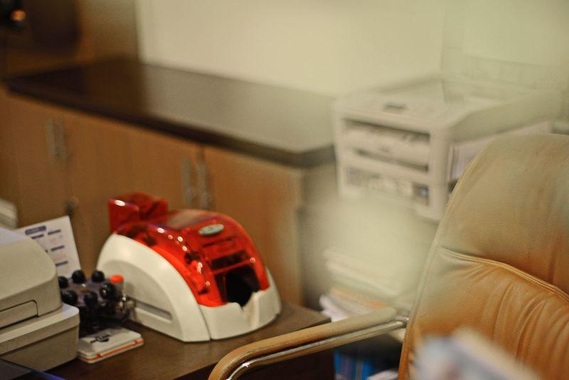 Glitch Chair Close-up ID Card Printer Indoors  Laser Jet Printer Lieblingsteil No People Passbook Printer Red