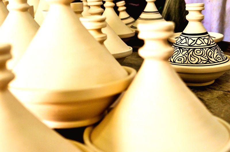 Work in process MoroccoTrip Production Process Tajine Ceramic Art Leisure Games Board Game Chess Game Indoors  Chess Piece No People Close-up Leisure Activity Still Life Arts Culture And Entertainment Arrangement Design Large Group Of Objects White Color High Angle View