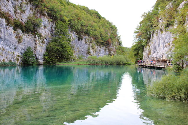 Croatia Djmarcop Trip Beauty In Nature Nautical Vessel Transportation River Rock - Object Tranquil Scene Tranquility No People Day Waterfront Outdoors Water Nature Tree Scenics Mountain Sky