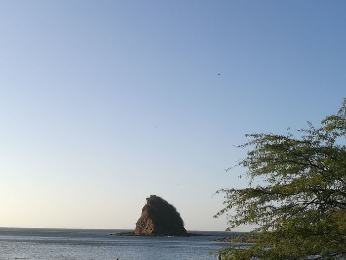 Costa Rica Guanacaste  Playa Rajada Water Sea Beach Blue Tree Sky Seascape Horizon Over Water