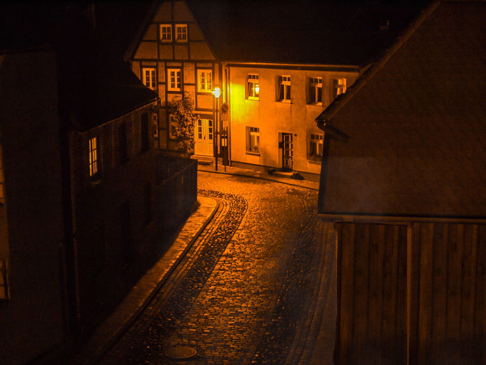 evening Night Illuminated City Architecture Built Structure Street No People Residential District House Outdoors Building Motion Photography