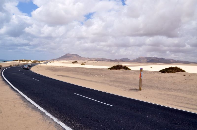The Journey Is The Destination road trip in sand dunes of corralejo Corralejo SPAIN Fuerteventura View Vacation Road Road Trip Trip Traveling Travel Vacations Roadtrip