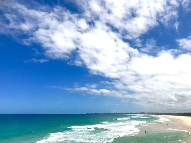 Australia Beach Sea Water Sky Cloud - Sky Beauty In Nature Beach Scenics - Nature Horizon Over Water Day Blue Tranquility Aquatic Sport Nature Wave Outdoors Surfing