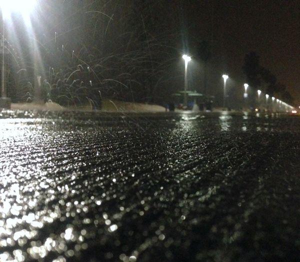 Rain on the boardwalk. Rain Beach Rainynights Empty Places Wet Night Lights
