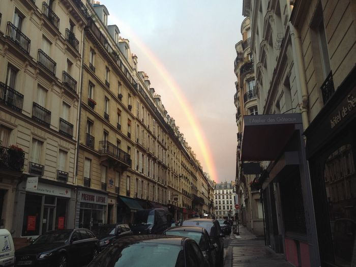 Paris after the rain, memory from Sept 2014. Traveling Paris Rainbow City