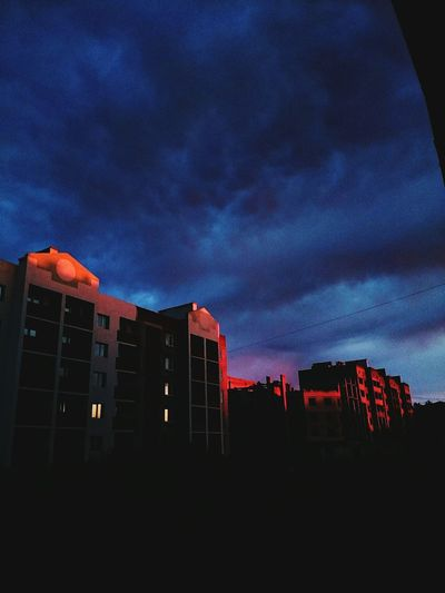 Architecture Building Exterior Built Structure City Low Angle View Dusk Sky Building Window Tall - High Tower Illuminated Cloud Blue Cloud - Sky Office Building Apartment Outdoors Development Building Story
