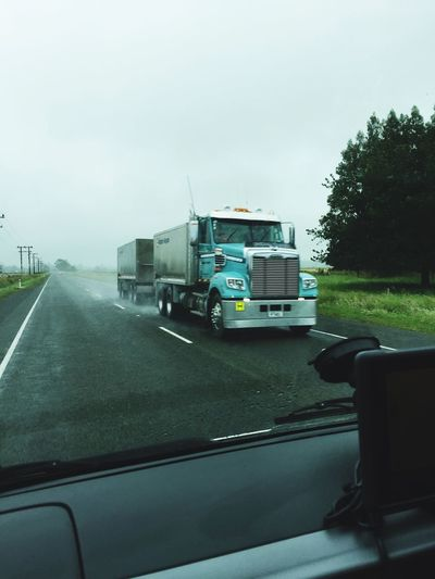 Truck New Zealand New Zealand Scenery Streetphotography On The Road Trucks Street Rainy Days Rainy Left Driving Driving Around Pukaki