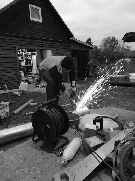 Blackandwhite Sparkles Working Builder Weldinglight Contrast