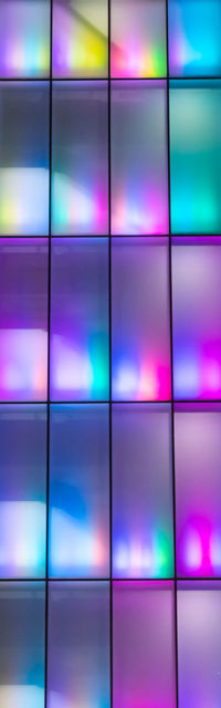 neon multi-color facade - bangkok - iridescence Multi Colored Backgrounds Full Frame Pattern Purple No People In A Row Technology Variation Abstract Shape Choice Reflection Illuminated Pink Color Television Set Design Close-up Nightlife Bangkok Architecture