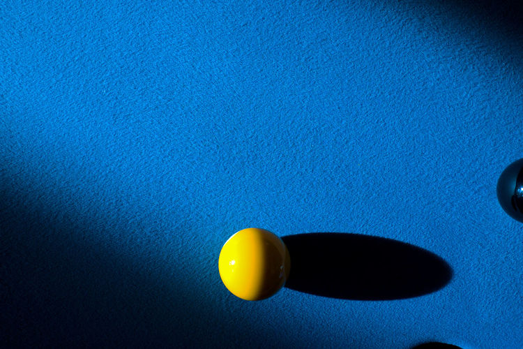 Directly Above Shot Of Pool Ball On Table
