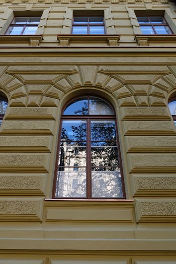 Window Architecture Built Structure No People Low Angle View Day Building Glass - Material Building Exterior Tree Arch Nature Outdoors Plant Transparent Place Of Worship Sky The Past History