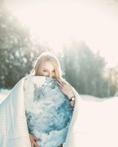 Blond Hair Winter One Woman Only Snow Smile :) Hello World Екатеринбург EyeEmNewHere