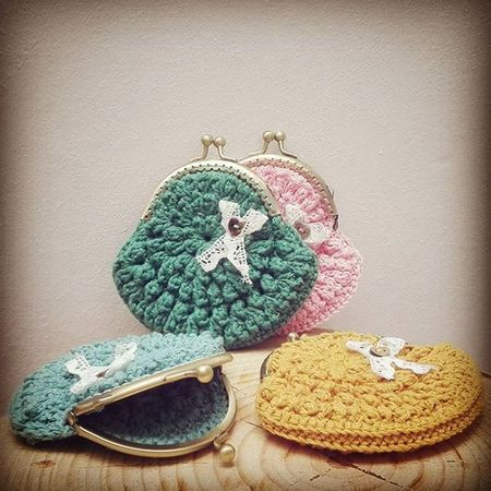 Monederos Tatapatata Coinpurse Frame Cotton Crochet Handmadewithlove
