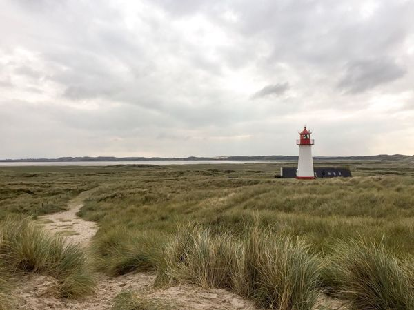 LIGHTHOUSE List-West Sylt // Lighthouse Guidance Direction Safety Protection Security Sky Grass Building Exterior Built Structure Nature Architecture Horizon Over Water Landscape Cloud - Sky Horizon Day No People Outdoors Beach Seascape Seaside Seashore Autumn