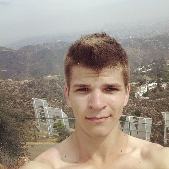Буковки позади меня)) Hollywoodsign Hollywood USAtrip La @ilyaspaceman побрился ;-)