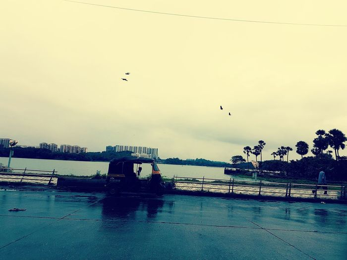 Sky Outdoors Water Day No People Nature Autorickshaw Bombayphotocommunity BombayDiaries Powai Lake View Manishsnapshots