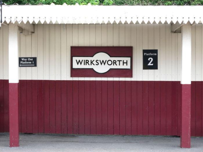 Derbyshire England Platform Train Train Station Wirksworth