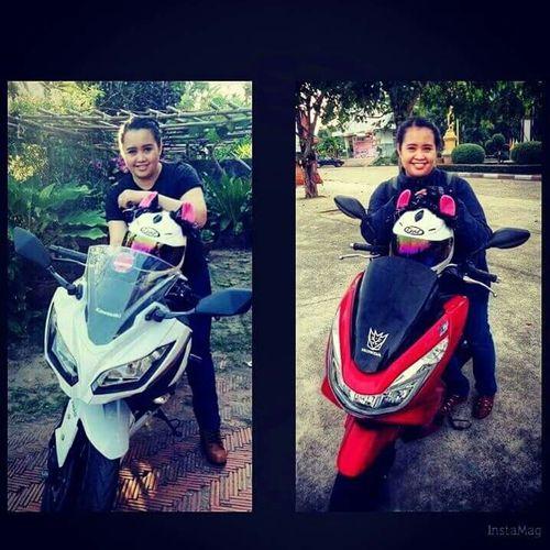 Ninja 300 & PCX 150.... My son 😀😀🌳🌳🌳🌳🌳