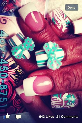 This How Imite Be Getting My Nails For My Bday , Except Diff Color
