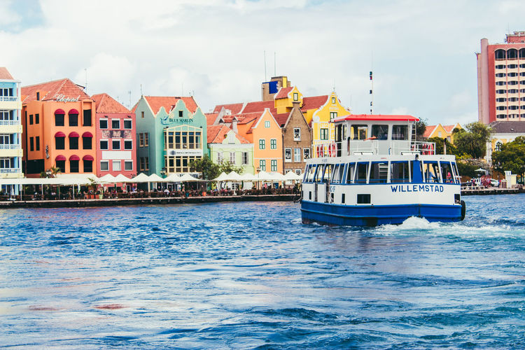 Nautical Vessel Architecture Building Exterior Sea Cloud - Sky Day Water Outdoors Cityscape Sky City Curacao 2017 Curacao Curacao (willemstad) Travel Destinations Punda Curacao Multi Colored House