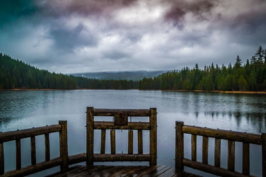 Rainy day in Trillium Lake Oregon Nature Cloud - Sky Lake EyeEmNewHere