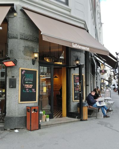 Cafe Store City Adults Only Building Exterior Street Travel Destinations Architecture Restaurant Bakery Adult Outdoors Façade People Business Finance And Industry Built Structure Women Only Men Men Day Norway Norway🇳🇴 Oslo Norge Norge🇳🇴