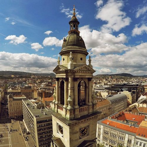 #Basilica #budapest #view Architecture Building Exterior Built Structure City Cityscape Clock Tower Cloud - Sky Day Dome History Nature No People Outdoors Place Of Worship Religion Sky Spirituality Town Travel Destinations
