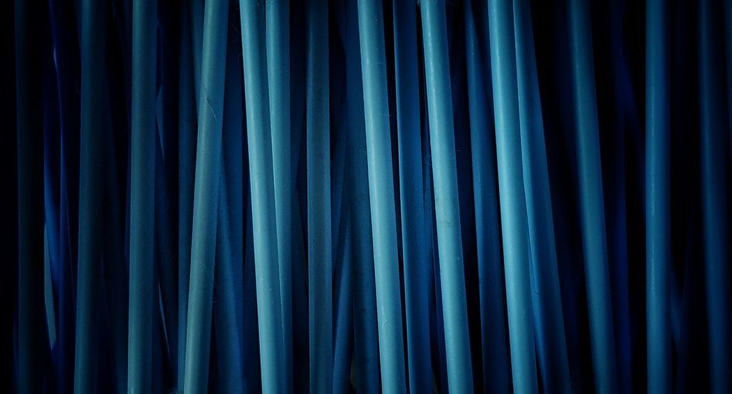 """Blue-tips"" Abstract AntiM Backgrounds Blue Blue Close-up Curtain Dark Detail Full Frame Nature No People Q-tips Repetition Textile Colour Palette Pattern Pieces"