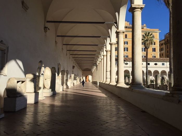 Miles Away Architecture Built Structure The Way Forward Architectural Column Real People Travel Destinations City Day Outdoors Stone Material Quiet Moments Quiet Places Breathing Space Breathing Space Your Ticket To Europe Rome Italy