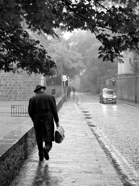 rain is my only friend Adult Alone Busy Car Case City Day Hat Nature One Person Outdoors People Rain Real People Rear View Road Sad Sctoland Sidewalk Street The Street Photographer - 2017 EyeEm Awards Walking