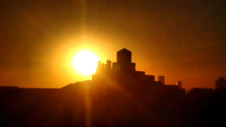 Sunset History The Past Sunlight Sun Silhouette Outdoors No People Sky Architecture Fort Ancient Civilization Mountain Nature Day