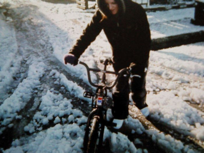 BMX ❤ Bmx Chick. Sun Or Snow.⛄❄. Slippery Streets Cold Days