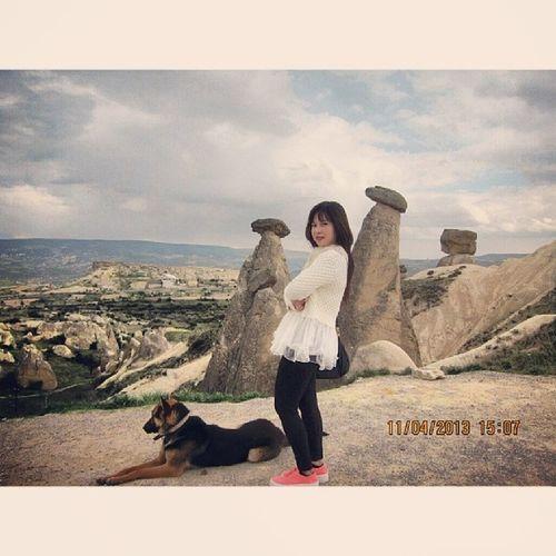 Mustafapasa Cappadocia Turkey 20130411 Pose Dog Panorama ExoticCity Nice