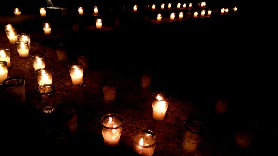 EyeEm Selects Candle Flame Illuminated Burning Celebration Religion Night No People Outdoors Fine Art Photography Still Life Candlelight Candle Flame Candle Light Candles Burning Veladora Candle Maker