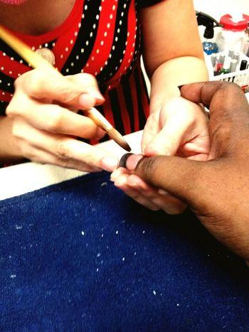 Manicure French Tip Nails Pampering Nail Art Nail Salon Hands At Work
