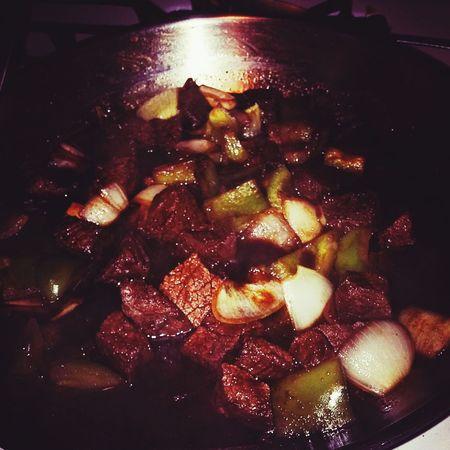 Beef stirred fried